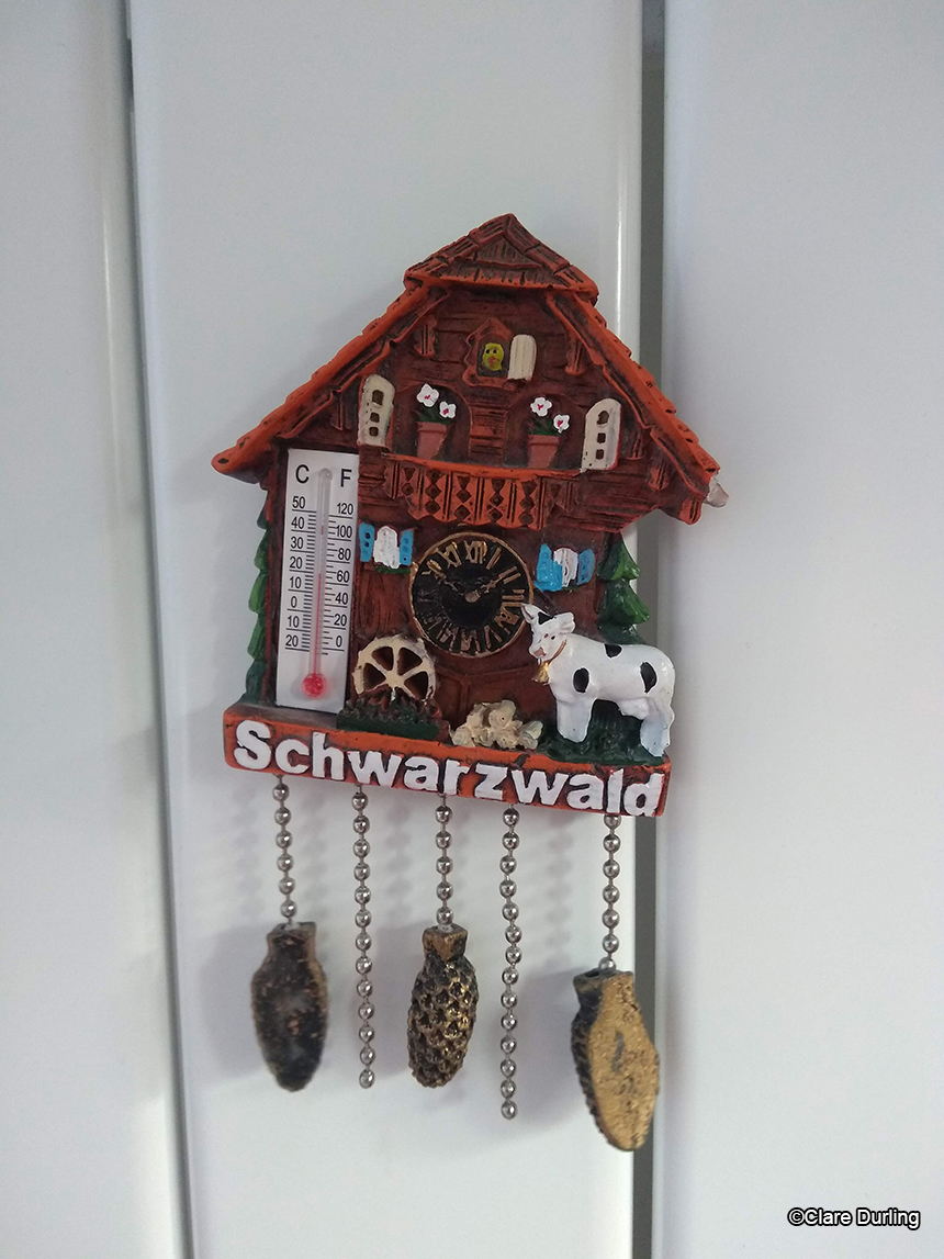 Cuckoo Clock Thermometer Fridge Magnet